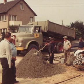 Straßenbau durch die Fa. Philipp-Bau, Bruchsal
