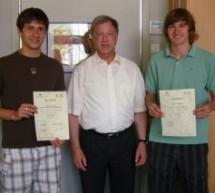 Neue Schülermentoren in den Disziplinen Gerätturnen und Handball