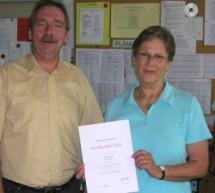 Frau Oberstudienrätin Bialojan feiert ihr 40-jähriges Dienstjubiläum