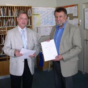 v. l.: Herr Sonnentag und Herr Vocke
