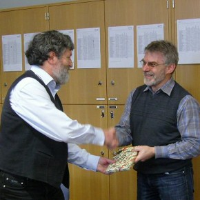 Herr Schröter überbrachte den Dank und die Glückwunsche der Fachschaft