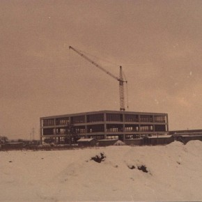Die Baustelle im Winter 1969/70