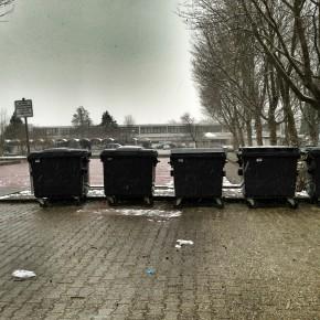Die fünf Mülltonnen