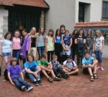 Lateingruppe der Klasse 6d im Römermuseum Stettfeld