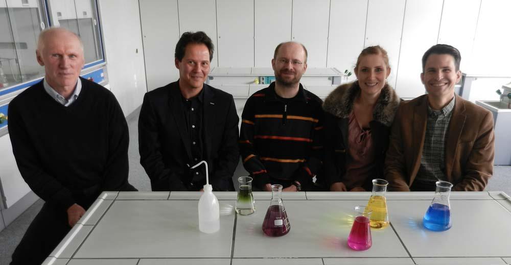Auf dem Foto v.l.n.r.: Herr Kopp, Herr Beck, Herr Klein, Frau Wettstein, Herr Uhde (es fehlt Frau Dr. Klenz)