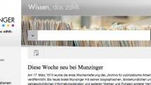 Neue Suchmaschine: Munzinger