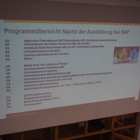 Programm während der Nacht der Ausbildung