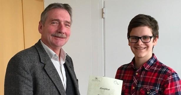 Hannes Heiniger ist Schülermentor!