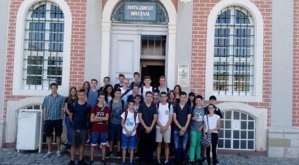 Exkursion der 9b ins Amtsgericht nach Bruchsal