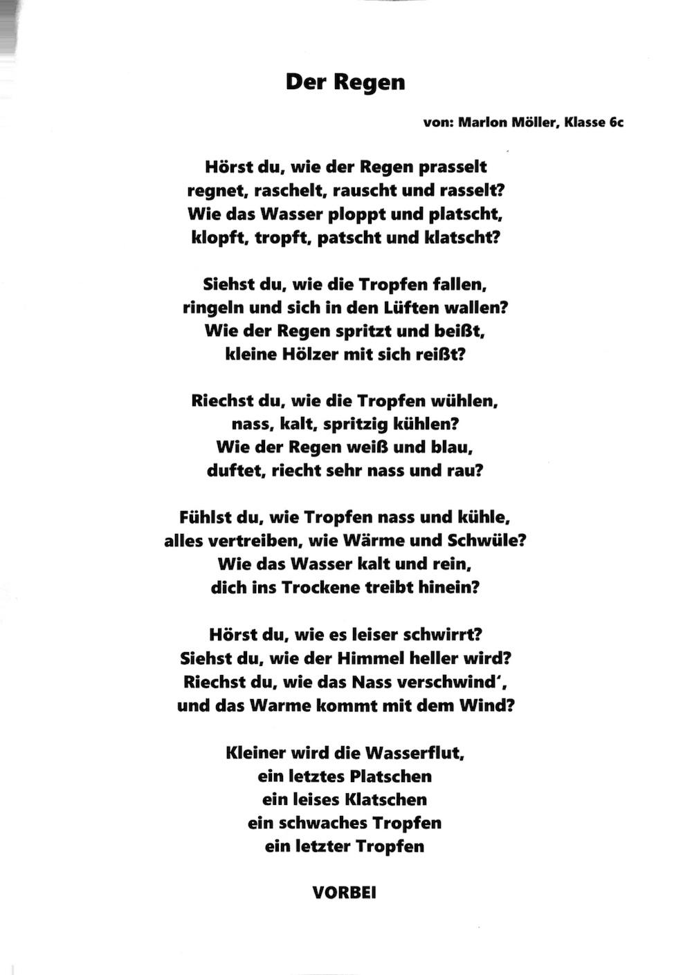 Gedichte Und Bilder.Gedichte Der 6c Copernicus Gymnasium
