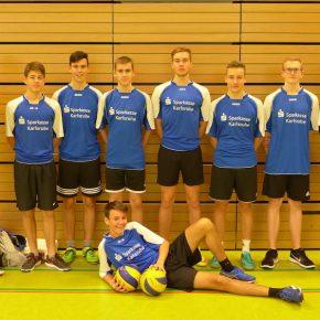 Team 2017 - die Zukunft, der Trainer steht links, Herr Oberacker