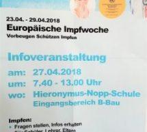 Infoveranstaltung – Europäische Impfwoche