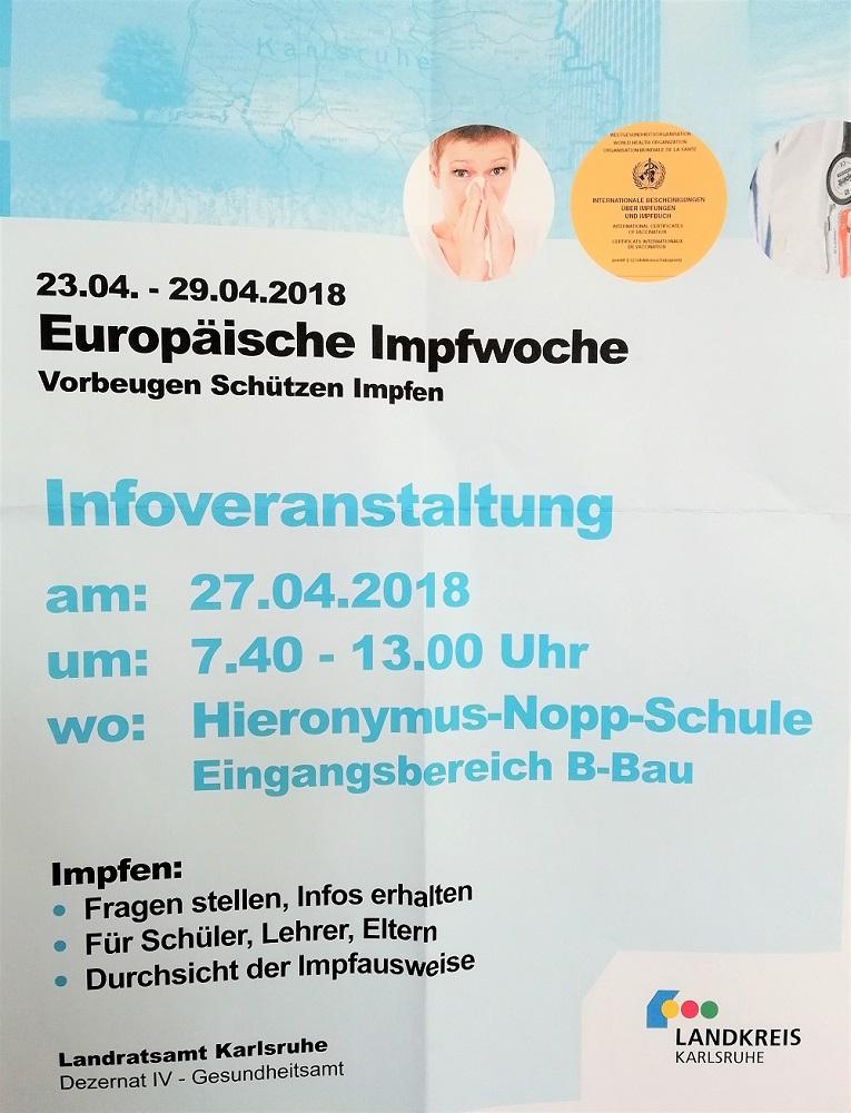 Impfwoche 2018 Plakat