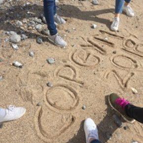 Copernicus, written in the sand