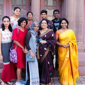 Teilnehmerinnen des Besuches aus Indien.