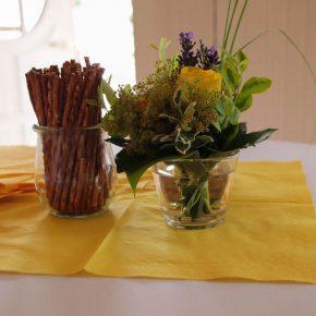 Salzletten und Blumen
