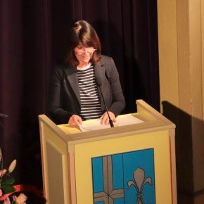 Die Abteilungspräsidentin des Regierungspräsidiums, Frau Bauer