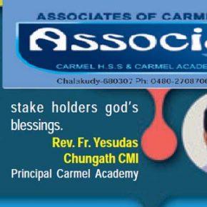 Pater Yesudas (in einer Broschüre der Carmel School)