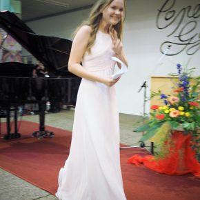 Alexandra Seelinger sandte musikalische Grußworte