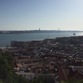 Blick von der Burg auf die Stadt
