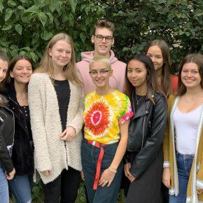 Die Schulkonferenz: Jule,  Adriana, Sophia, Max, Amelie, Maria, Leonie, Isabel