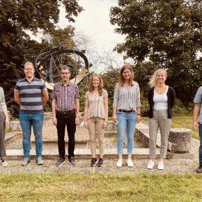 Die neuen Kolleginnen und Kollegen 2021: Vlnr: Frau Jaensch, Herr Uhrig, Herr Heftrich, Frau Dr. Blatz, Frau Wellessen, Frau Furlan, Herr Lang)